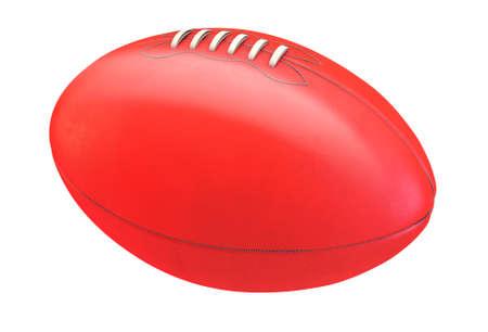 Een generieke merkloze Aussie regels voetbal bal op een geïsoleerde achtergrond whote studio - 3D render
