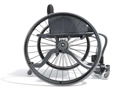 A modified wheelchair used by handicapped athletes to compete in various sporting codes on an isolated background - 3D render Stock Photo