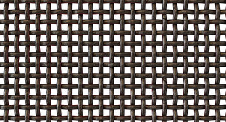 A regular woven metal barbecue grid on an isolated white studio background - 3D render 스톡 콘텐츠