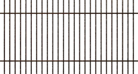 A regular shaped metal barbecue grid on an isolated white studio background - 3D render 스톡 콘텐츠
