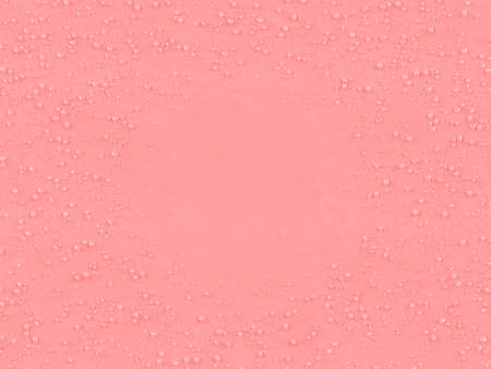 A closeup of tiny water droplets and condensation framing the outside of a pink textured paper background - 3D render