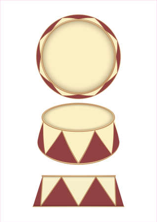A vector illustration of an empty ringmasters podium on an isolated white studio background