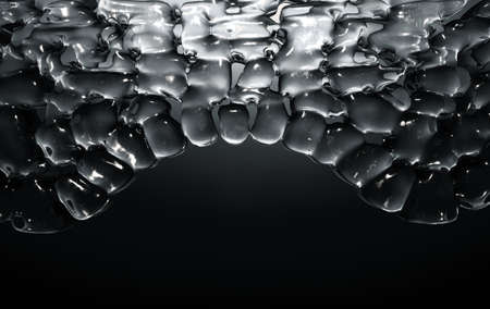 A cross section scientific view of eperdermis cells sub layer beneath skin on an isolated dark background - 3D render 免版税图像