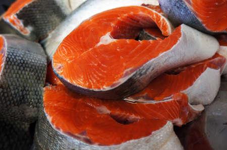 Fresh Salmon Steaks Фото со стока