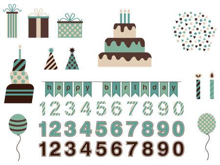 Birthday Vector Set