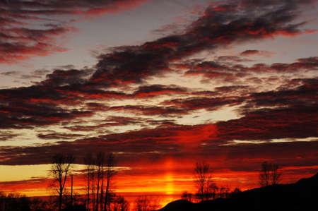 Chilliwack Sunset Фото со стока