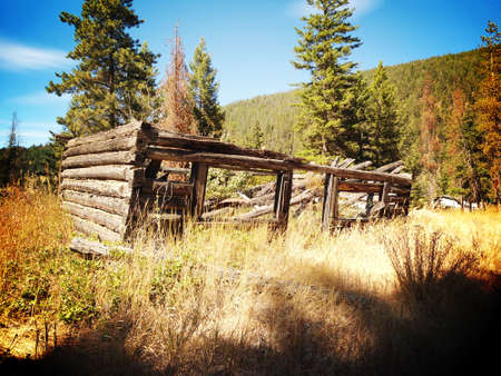 ghost town: Ghost Town in Coalmont Stock Photo