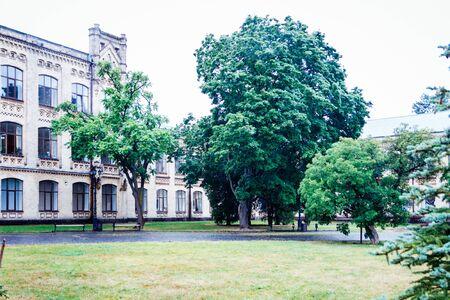 Kiev Polytechnic Institute. The hull in the park. Stock fotó