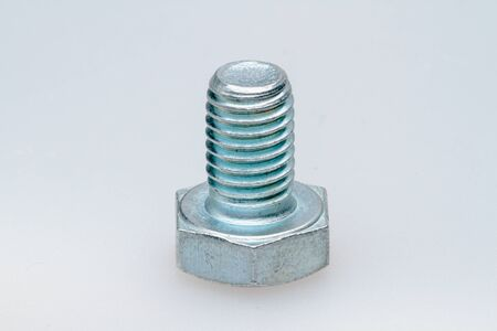 Bolt with the right thread. Close-up.