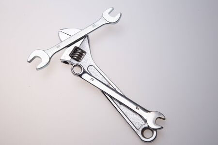 Wrenches on a white background