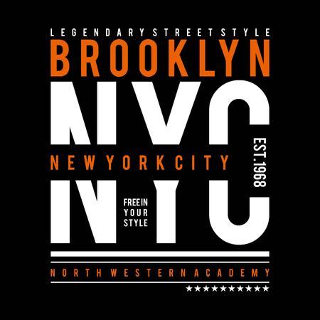 Brooklyn typography, t-shirt design graphics