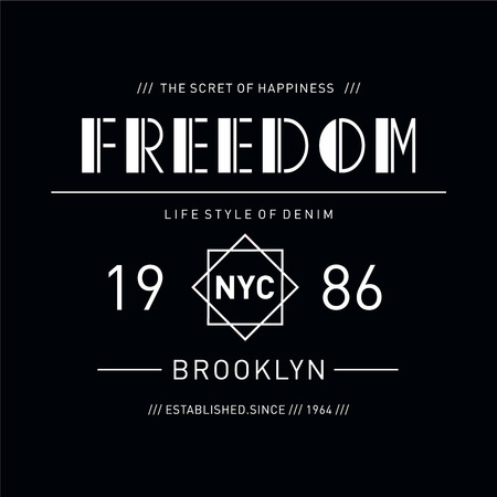 New York City typography design tee for t shirt print