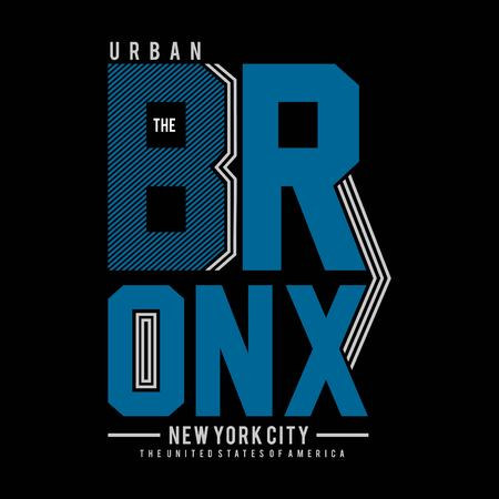 the bronx ny city cool awesome typography tee design illustration,element vintage artistic apparel product Illustration