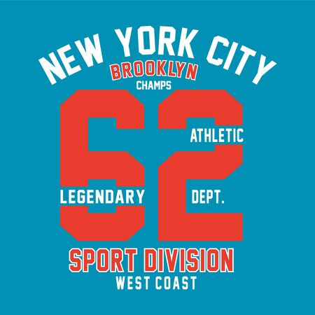 brooklyn champs print-design for t-shirt and-other uses-Vector