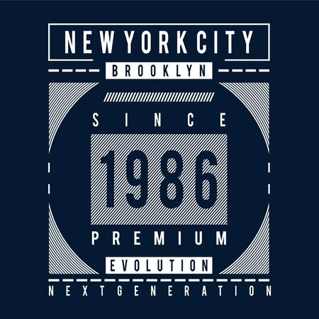 brooklyn evolution typography design tee for t shirt print,vector illustration