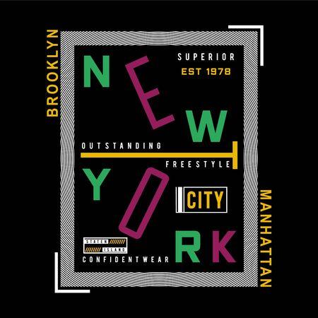 brooklyn,manhattan graphic typography t shirt, vector illustration modern printed -Vector