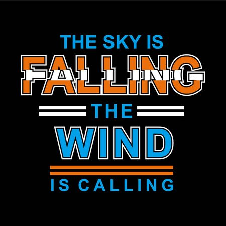 Falling The Win slogan tee t shirt graphics print vector illustration design-Vector