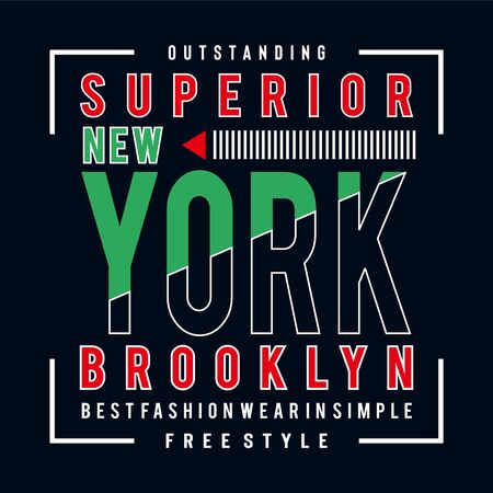 free style brooklyn typography design tee t shirt,vector-illustration
