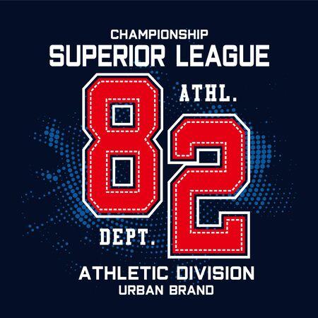 championship sport typography t shirt graphics-Vector 写真素材 - 129777544