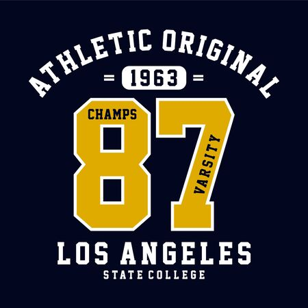 champs varsity graphic-design-for t shirt-vector