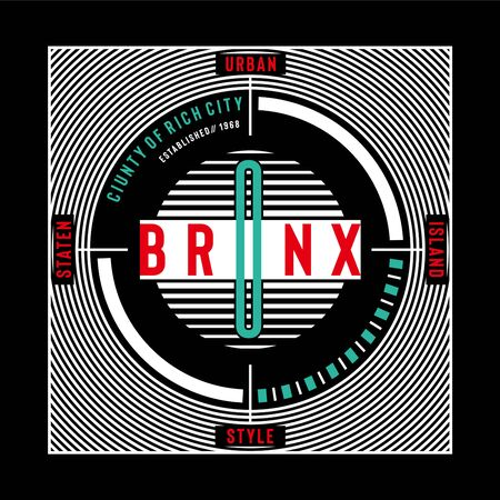 county of rich city bronx typography design-Vector illustration