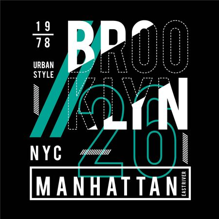 new york city typography design t-shirt vector illustration  - Vector  イラスト・ベクター素材