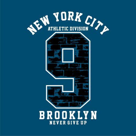 Athletic Division New YorkCity ,Brooklyn typography, t-shirt graphics  イラスト・ベクター素材