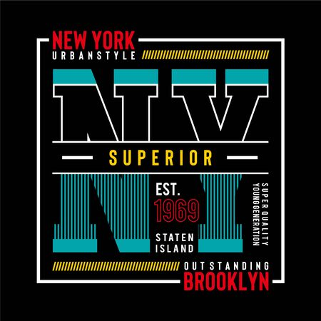 NY Brooklyn Typography Design,tee T-shirt Graphic, Vector Images