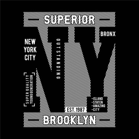 NY Brooklyn Typography Design,For T-shirt Graphic, Vector Images  イラスト・ベクター素材