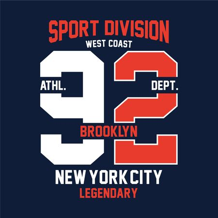 brooklyn west coast,print design for t-shirt and other uses - Vector