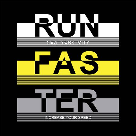 athletic sport run typography tee t-shirt design,vector illustration