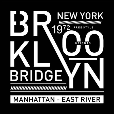 brooklyn- bridge typography design for t-shirt, Vector illustration -Vector