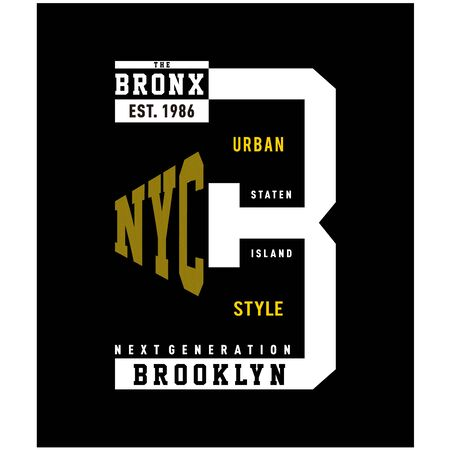 brooklyn typography design tee for t shirt print ,vector illustration - Vector  イラスト・ベクター素材