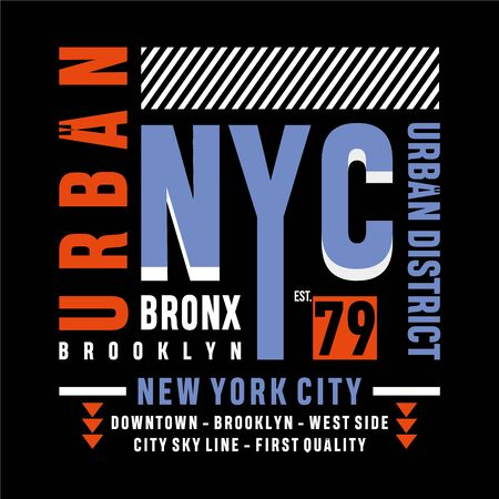 urban new york typography design tee for t shirt, vector illustration  イラスト・ベクター素材