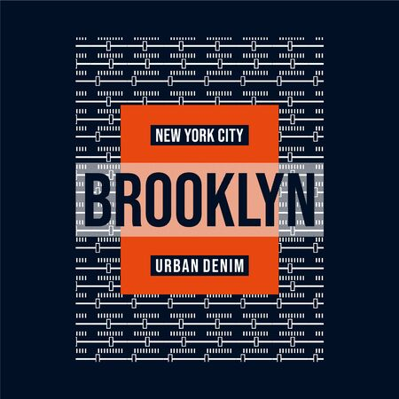 vector illustration on theme new york city typography design for t shirt
