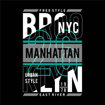 new york city typography design t-shirt vector illustration  - Vector Ilustração