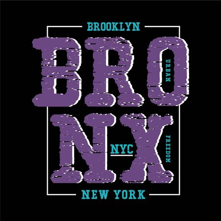 bronx nyc typography design t-shirt vector - vector illustration