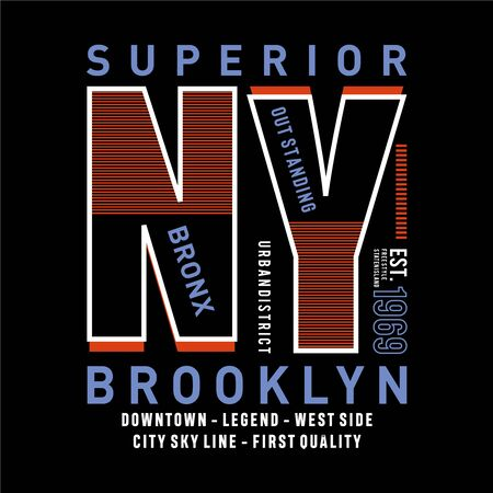 Bronx,brooklyn,new york element,vintage graphic t shirt print vector illustration design - Vector Ilustração