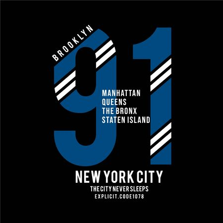 New York city typography graphic art,for t shirt design vector illustration idea