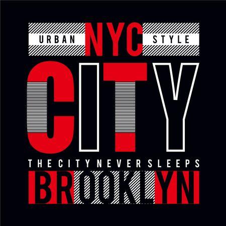 new york city tee element,vintage graphic t shirt print vector illustration design - Vector