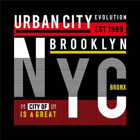 new york city urban t shirt design graphic typography, vector illustration concept art - Vector