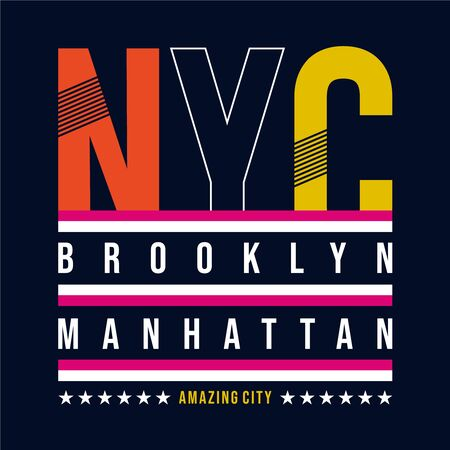New York typography, t-shirt graphics. vector illustrations
