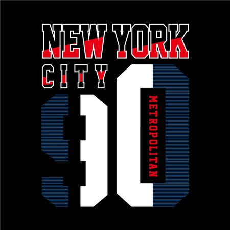 new york t shirt design graphic typography, vector illustration concept art - Vector