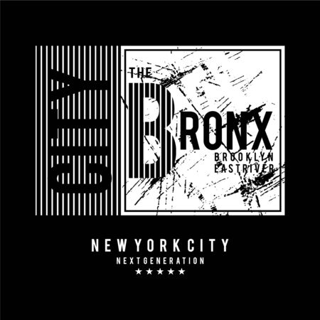 the bronx typographic t shirt design graphic, vector illustration artistic urban art
