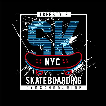 skate board sk-typography-design-tshirt vector-vector illustration