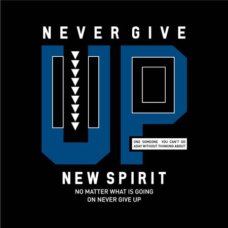 Inspiring motivation quote new spirit . typography poster and t-shirt design concept. - Vector Ilustração