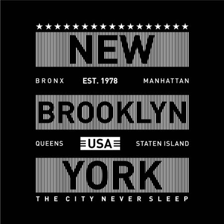 staten island typography for tee t-shirt design, vector illustration artistic element - Vector
