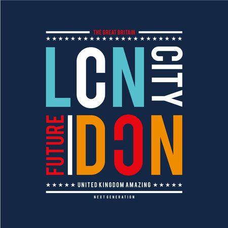 united kingdom cool graphic design typography for t shirt print - Vector Illusztráció