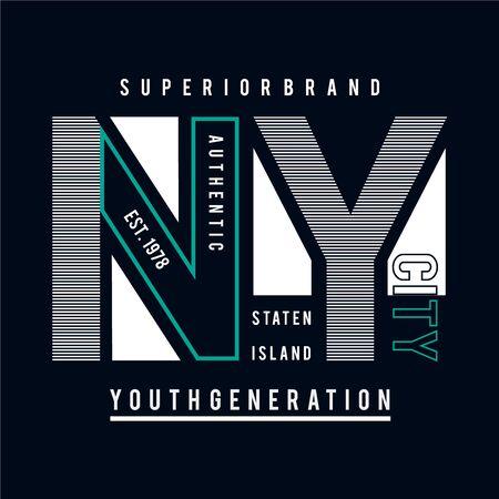 New York city typography graphic art,for t shirt design vector illustration ideaNew York city typography graphic art,for t shirt design vector illustration idea Illusztráció