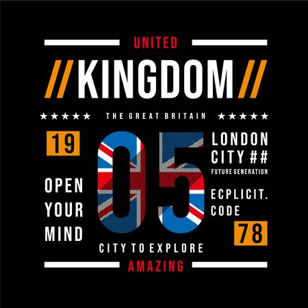 united kingdom cool graphic design typography for t shirt print - Vector - vector
